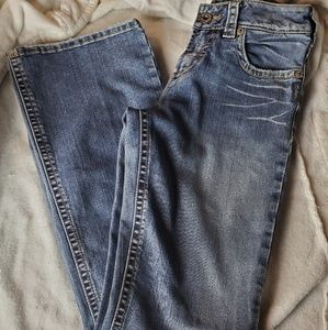 Silver Jeans Womens Tuesday Destroyed Blue Wash Bo